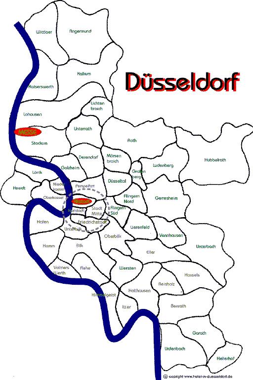 Düsseldorf Stadtteile Karte.Analyse Des Wohnraumangebotes In Der Rheinischen Post